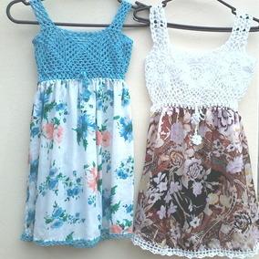 ff0d85018 Vestidos Em Crochê E Tecido - Calçados, Roupas e Bolsas no Mercado Livre  Brasil