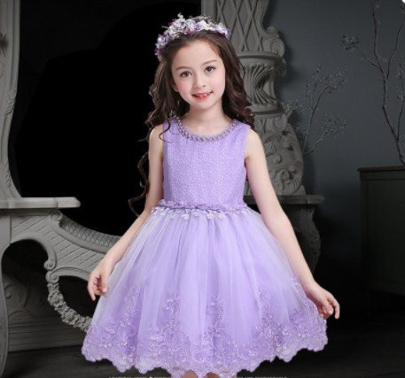 vestido infantil dama daminha rosa bordado casamento renda