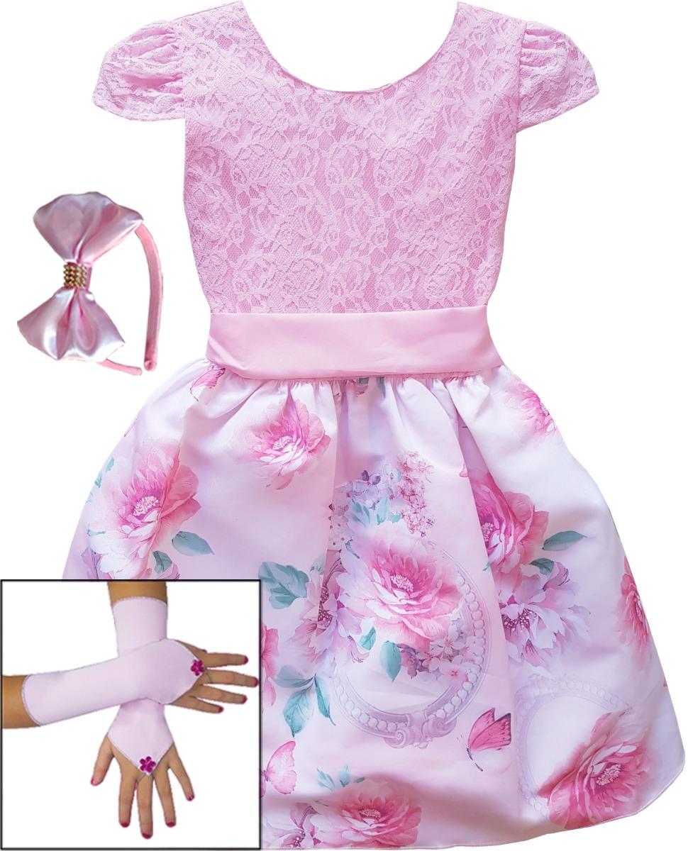 3af38691c vestido infantil daminha floral 4 ao 12 anos mega promoção. Carregando zoom.