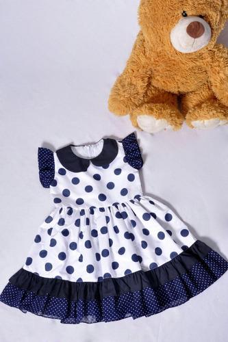 vestido infantil de bolinhas