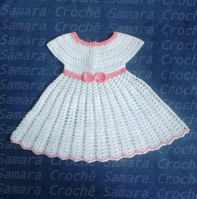 58434f9fc Vestido Croche Infantil Grafico - Vestidos de Bebê no Mercado Livre Brasil