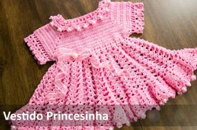 5df4cb99b Vestido De Croche Infantil Outros Tipos - Vestidos para Meninas ...