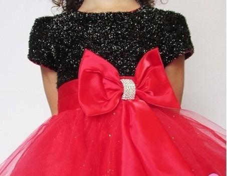 Vestido de festa preto e vermelho