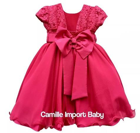 c71302e9b8 Vestido Infantil De Festa Rosa Pink Barbie Princesa E Tiara - R  120 ...