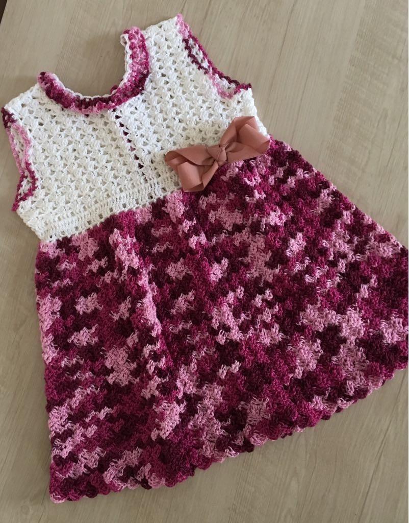 vestido infantil em crochê - 1 ano. Carregando zoom. 814bd87ebc9