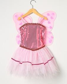 d3d47e884f Vestido Infantil Fantasia Fada Sininho Tinker Bell Cor Rosa. R  120