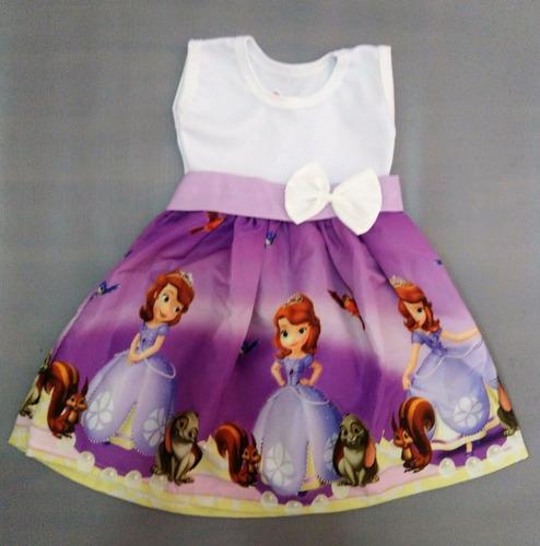 vestido infantil festa 1 princesa sofia roupa/fantasia