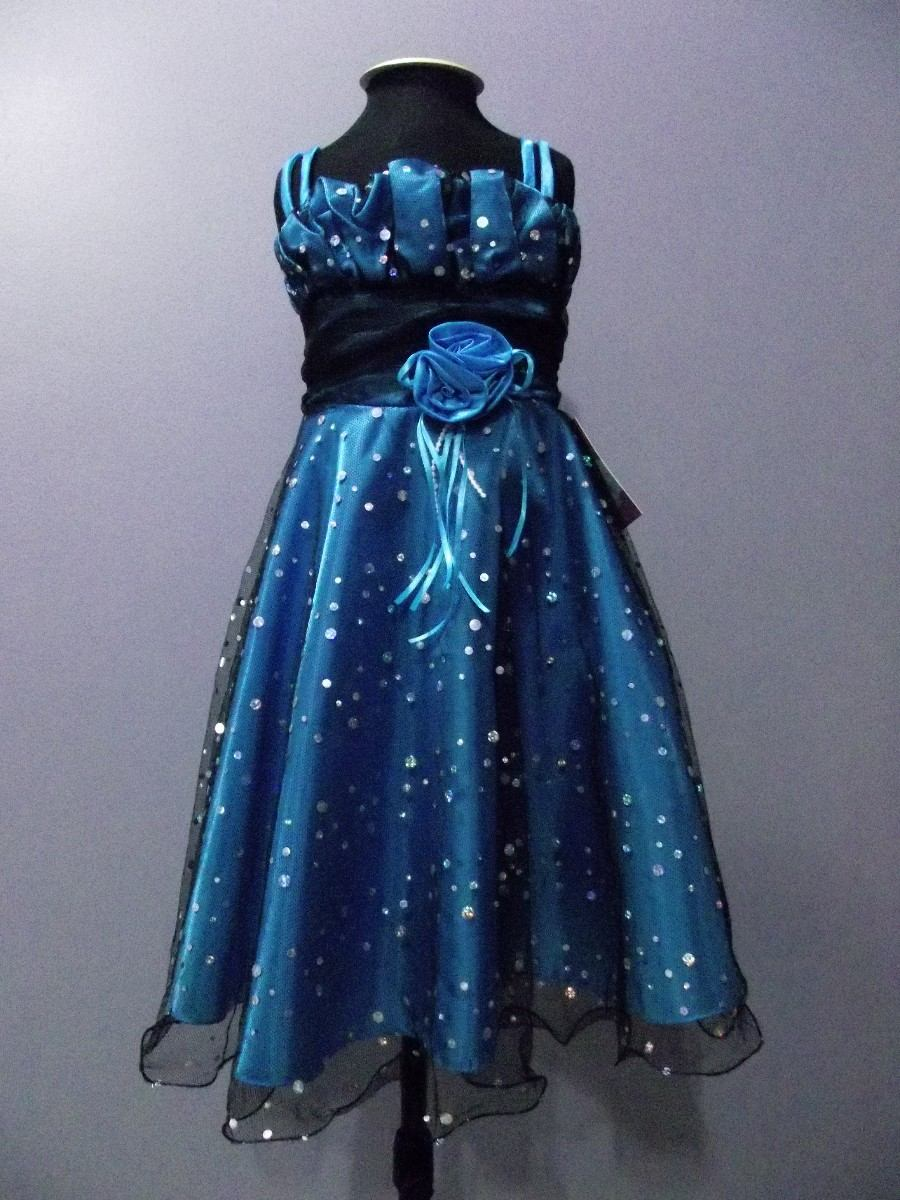Vestido azul infantil mercado livre