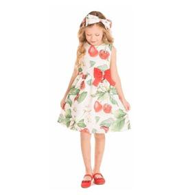 c5b4a5b49f0923 Vestido Infantil Festa Barata Atacado Cereja 1085 Minimour