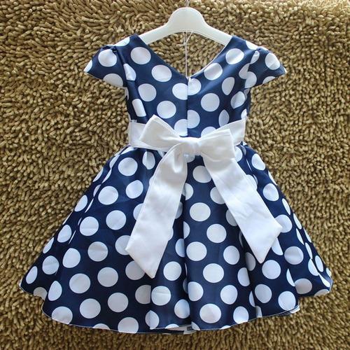 vestido infantil festa bolinha dama baile 8 a 11 anos laço