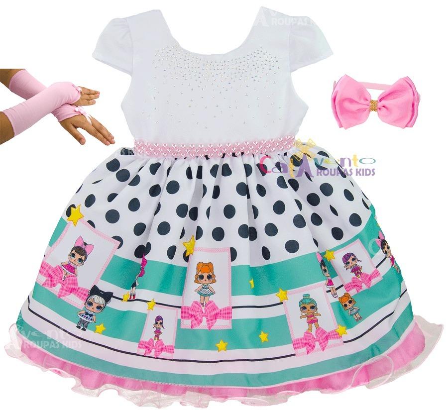 fba2d06045 vestido infantil festa boneca lol surprise com kit completo. Carregando  zoom.