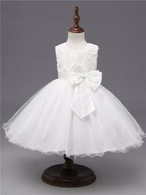 e0fd067989 Vestido Daminha Princesa - Vestidos Meninas De Festa Branco em ...