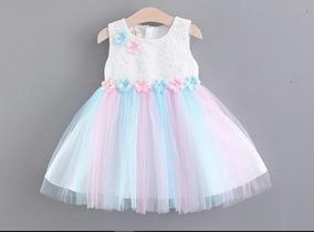 Vestido Infantil Festa Chuva De Amor Aniversário Casamento