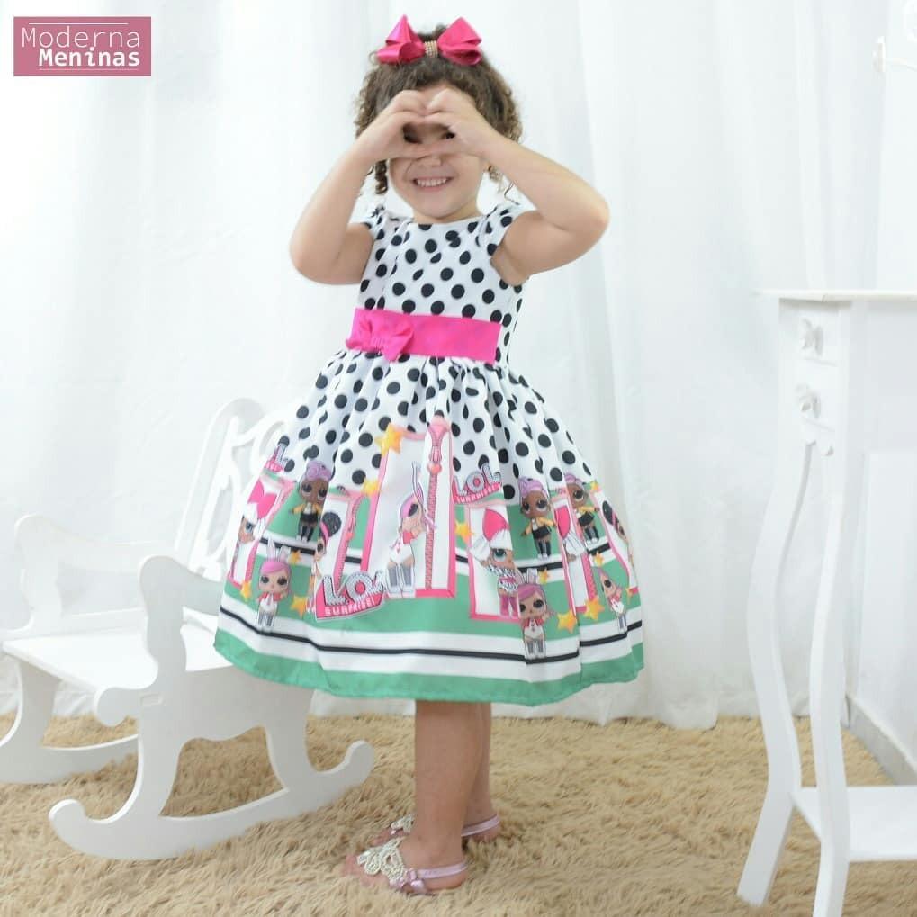 9e97f7c6d6b vestido infantil festa com tema mínis bonecas lol surprise. Carregando zoom.