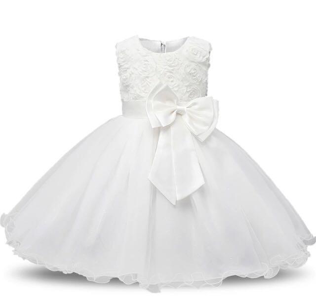 530aa7ea23 Vestido Infantil Festa Criança Princesa Laço Pronta Entrega - R  80 ...