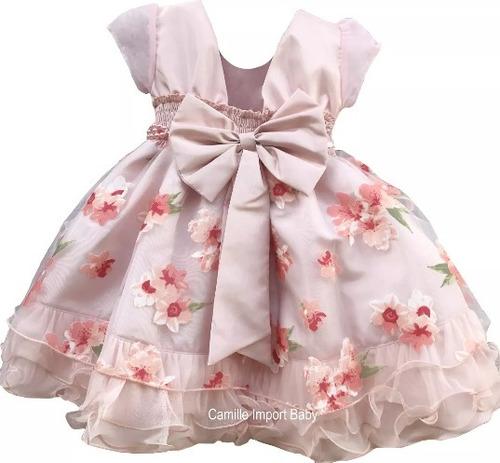 vestido infantil festa daminha casamento formatura floral
