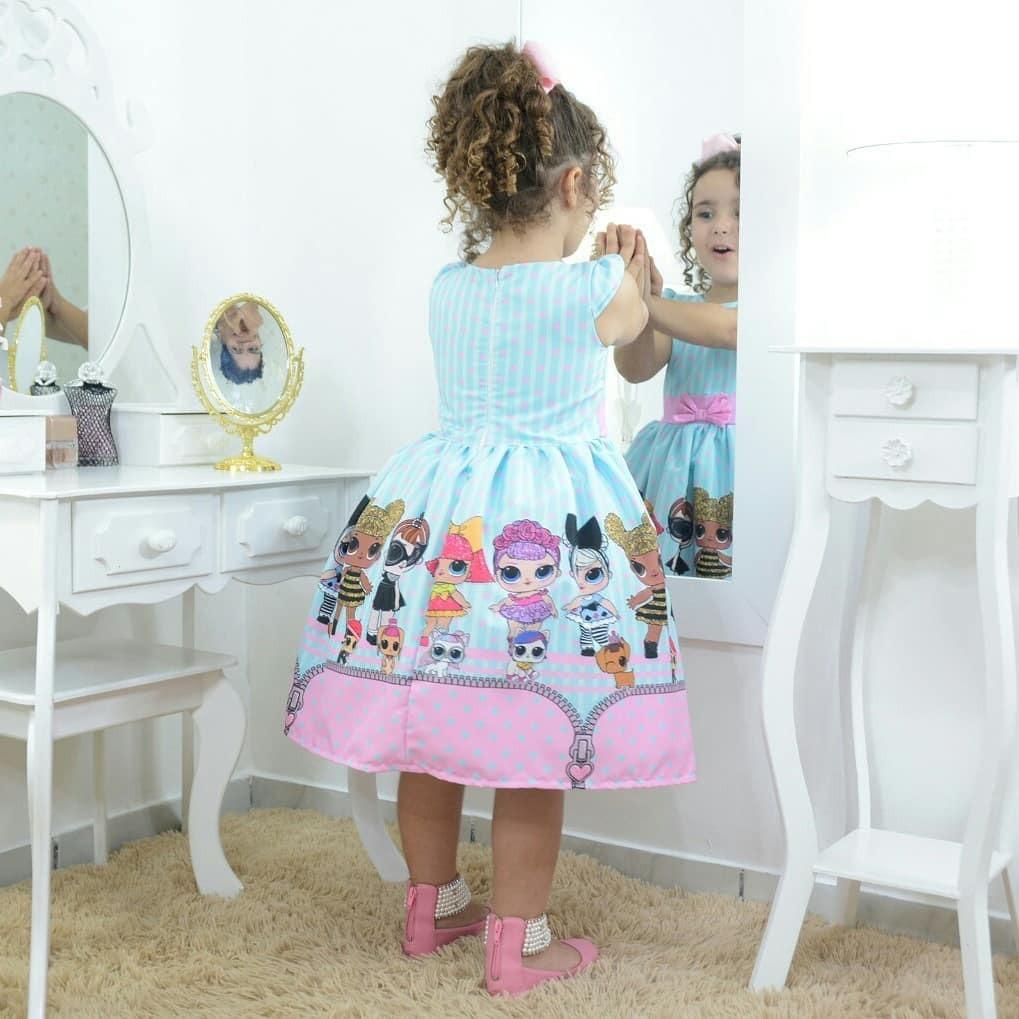 d25d73ecc2 vestido infantil festa das mínis bonecas lol surprise. Carregando zoom.