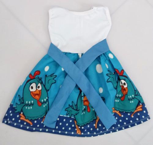 vestido infantil festa galinha pintadinha roupa/fantasia