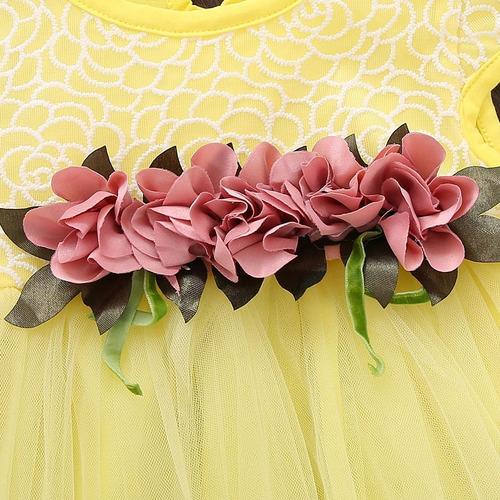 vestido infantil festa jardim daminha floral fotografia bebê
