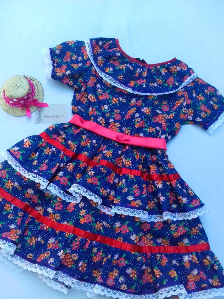 2bfdc1d355c4 Vestido Infantil Festa Junina Caipira Tamanho 1 Ao 10 - R$ 110,99 em ...