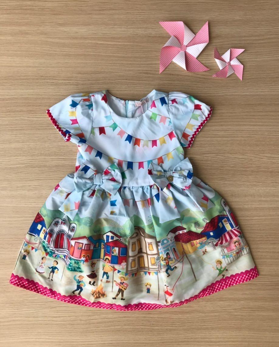 b197b8ea6 Vestido Infantil Festa Junina Mon Sucré - R$ 149,90 em Mercado Livre