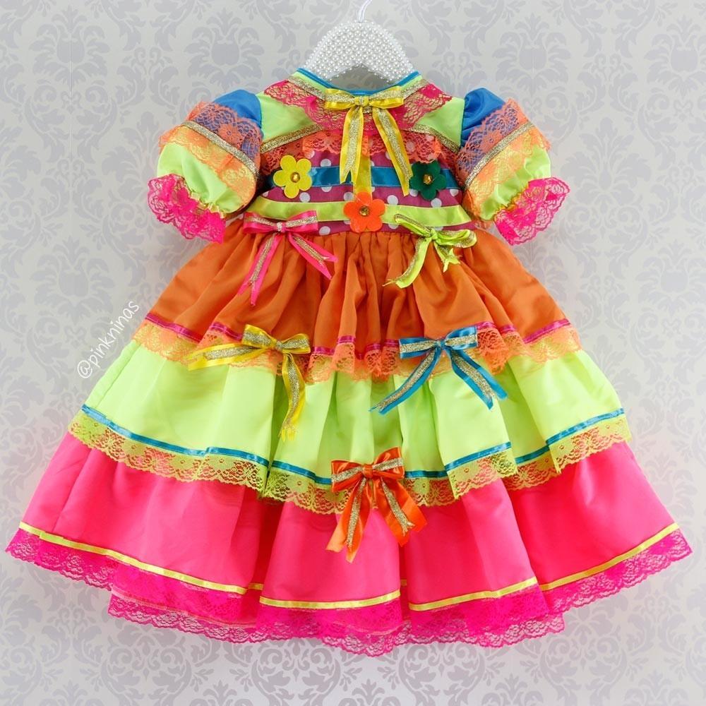 vestido infantil festa junina são joão - encomenda sob medid. Carregando  zoom. 9c3f4e065be