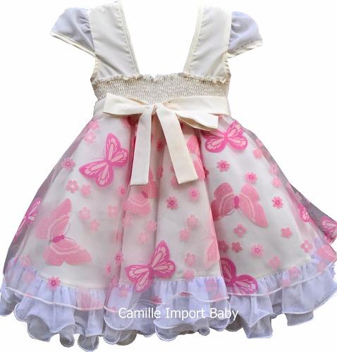 vestido infantil festa luxo floral sofisticado dama e tiara