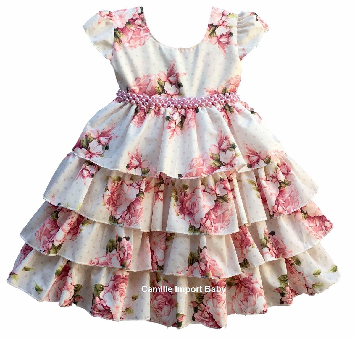 beb0b6825d vestido infantil festa luxo princesa floral e tiara promoção. Carregando  zoom.