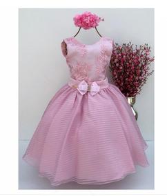 Kit Vestido Infantil Tamanho 12 Vestidos Festa Rosa Com O