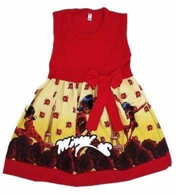 vestido infantil festa miraculous ladybug roupa/fantasia