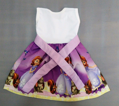 vestido infantil festa princesa sofia roupa/fantasia