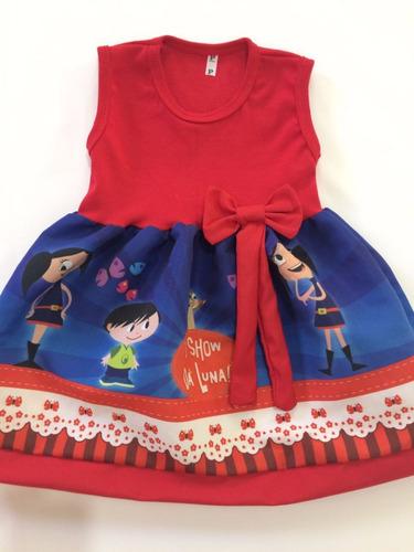 vestido infantil festa show da luna roupa/fantasia promoção
