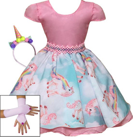 a2fced377 Vestido Infantil - Vestidos Meninas no Mercado Livre Brasil
