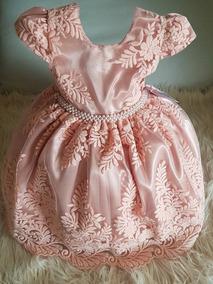 84da2733cb Vestido Infantil Festa Todo Bordado C Cinto Pérolas Luxo