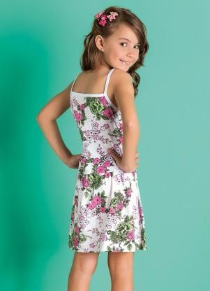 vestido infantil floral 4 6 8 10 12  anos