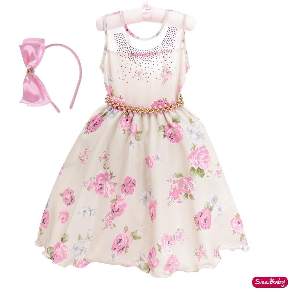 dcac76596 vestido infantil floral rosa jardim encantado carinha anjo. Carregando zoom.