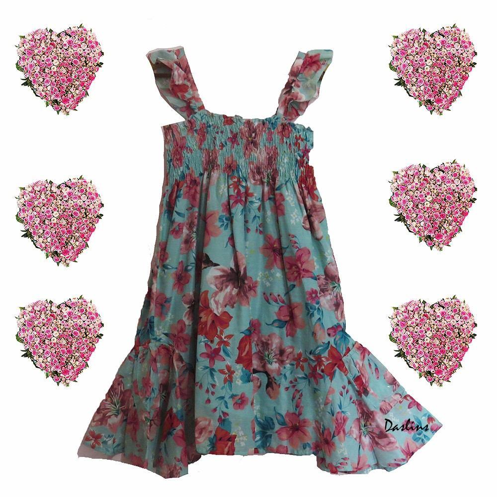 Vestido Infantil Floral Tamanho 12