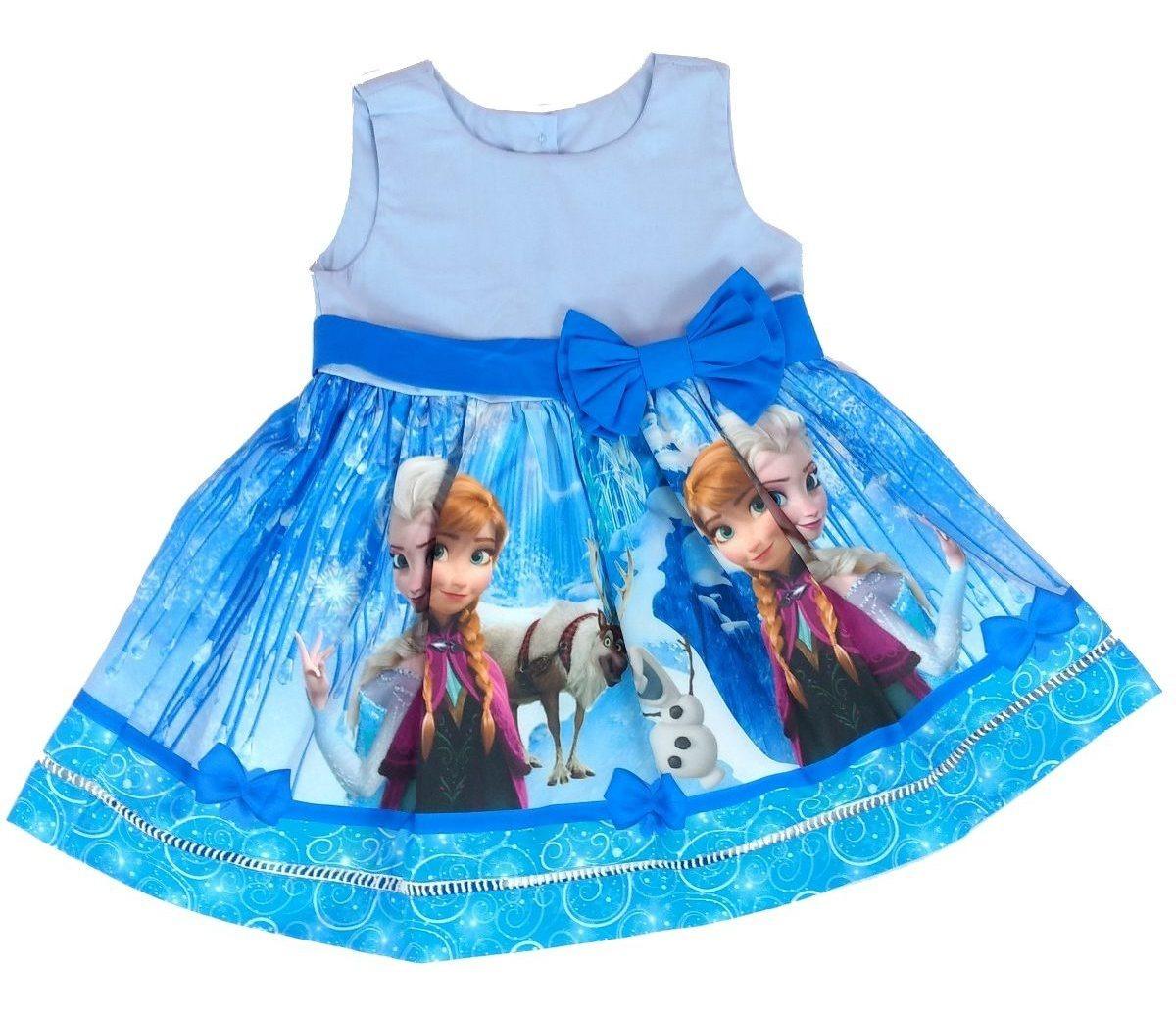 79e095618 vestido infantil frozen ana elsa e olaf gelo festa infantil. Carregando  zoom.