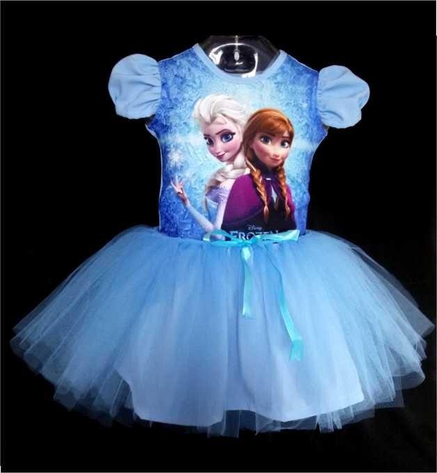 7656bbe900 Vestido Infantil Frozen Fantasia Bailarina Frete Grátis - R  120