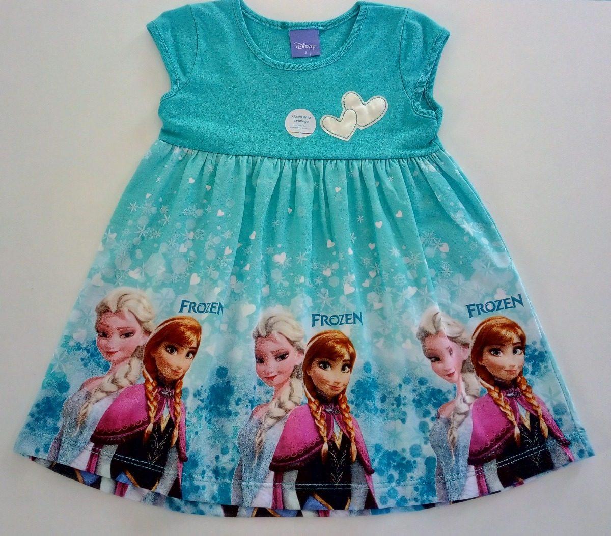 a7a56d45fa0bb vestido infantil frozen menina brandili azul liquidação. Carregando zoom.