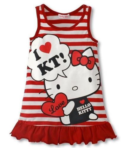vestido infantil hello kitty - produto importado