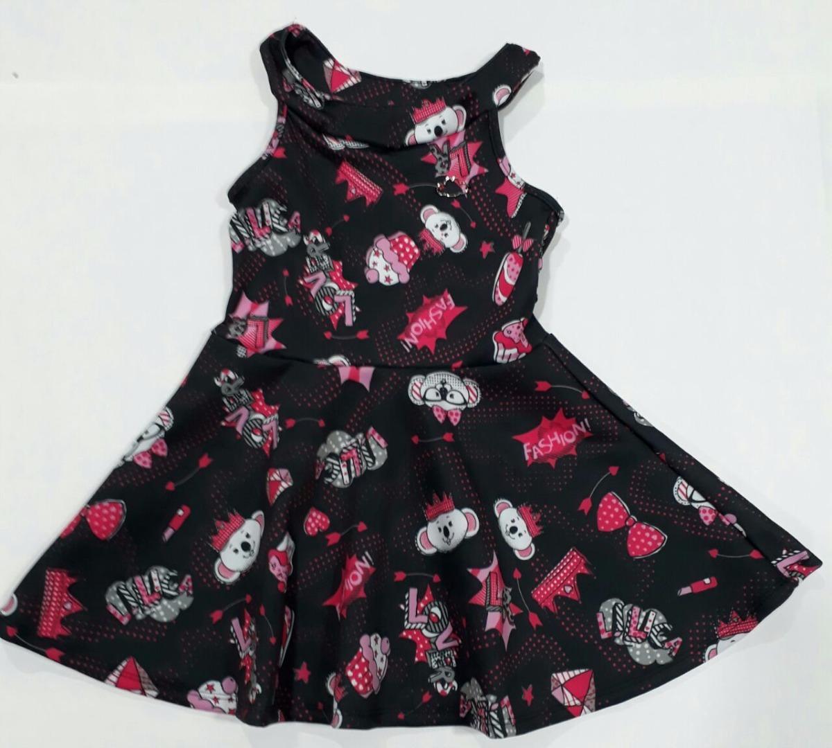 70a6d3e812 Vestido Infantil Lilica Ripilica Preto Original Swh23 - R  259