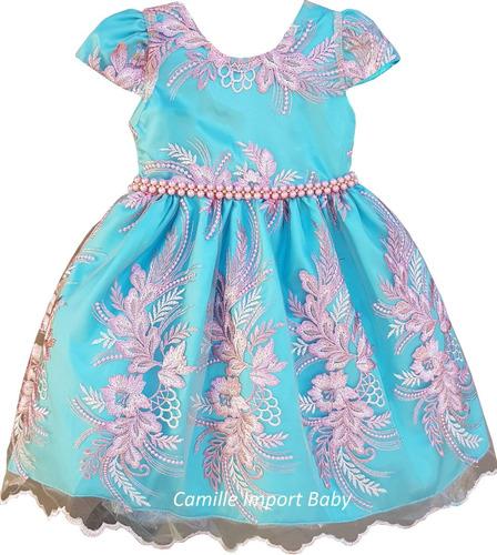 vestido infantil luxo festa criança princesa pronta entrega