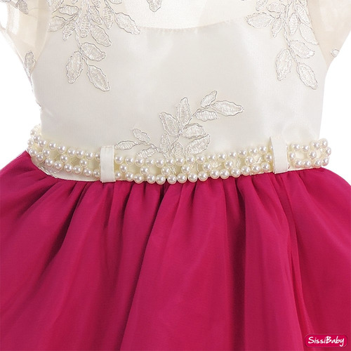 vestido infantil masha princesa realeza super luxo tiara
