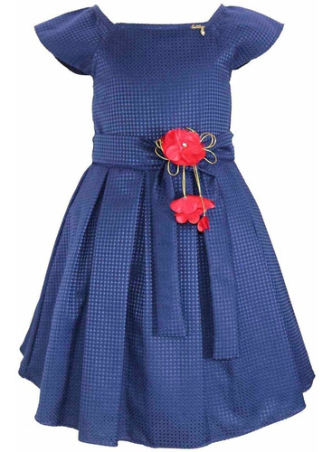 vestido infantil menina com pregas katitus