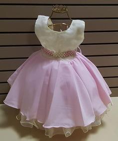 04bf70b4e2 Vestido Infantil Menina Luxo Com Cinto Pérolas