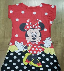 25ceb5cac0c475 Vestido Infantil Minnie Vermelha Bolinha