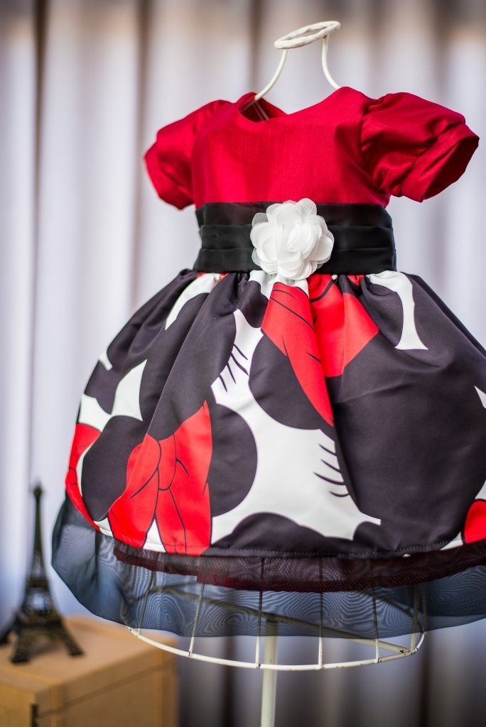 Vestido Infantil Minnie Vermelha Desenho R 159 90 Em Mercado Livre