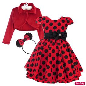 169ae84b7175f Vestido Festa Infantil Inverno Bolero - Vestidos para Meninas Festa com o  Melhores Preços no Mercado Livre Brasil