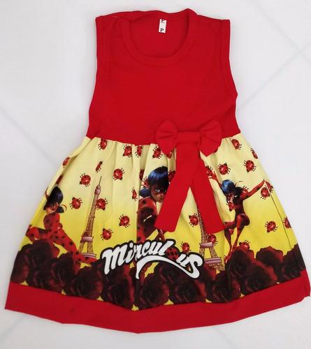 vestido infantil miraculous ladybug fantasia/roupa -promoção